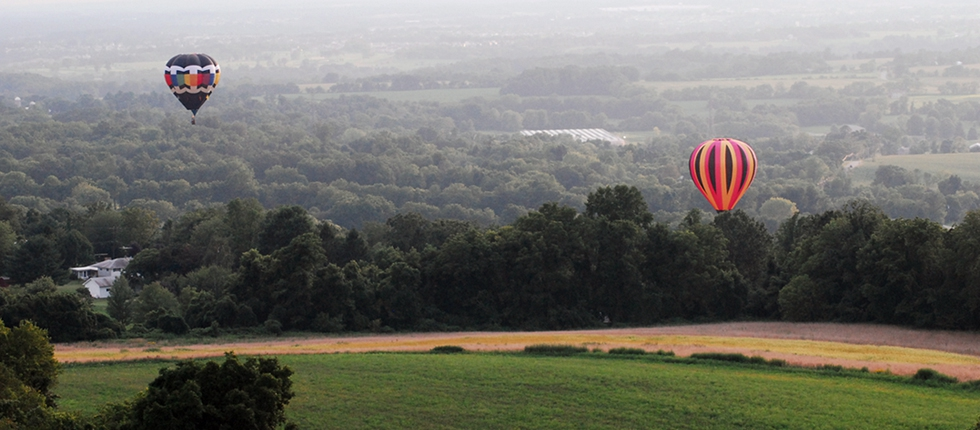 Balloons and Beautiful Warren County NJ, perfect together!